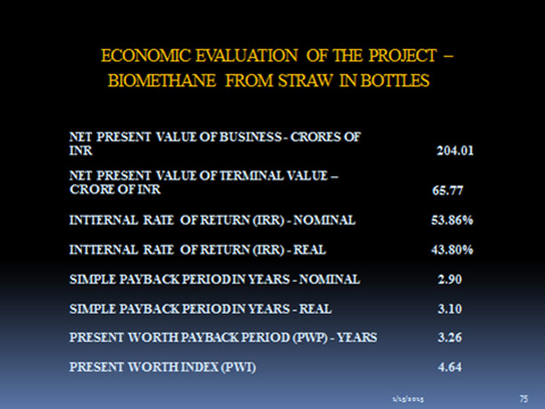 Economic Evaluation of the Project
